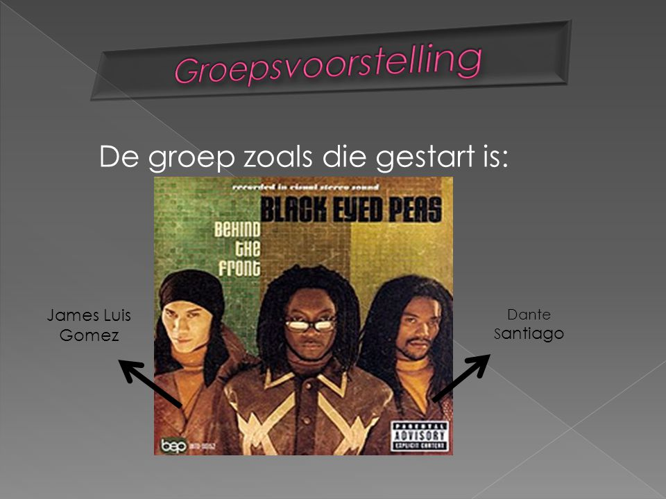 Bridging the gap 2000 Behind the front 1998 Monkey buisnes 2005 Elephunk 2003 Nieuwste album 30 -11-10!!!.