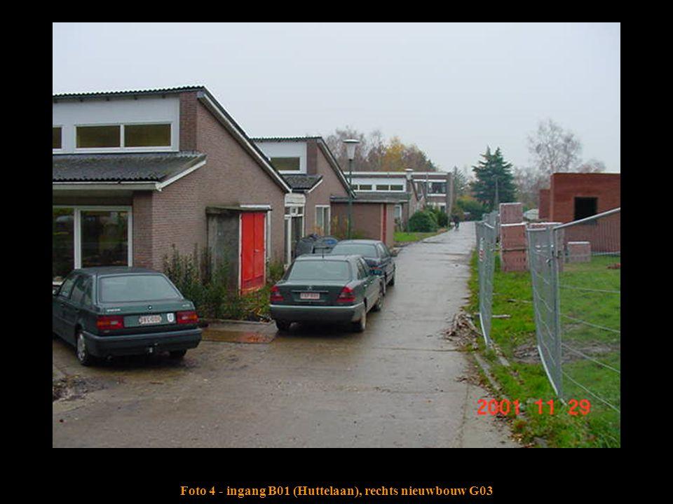 Foto 4 - ingang B01 (Huttelaan), rechts nieuwbouw G03