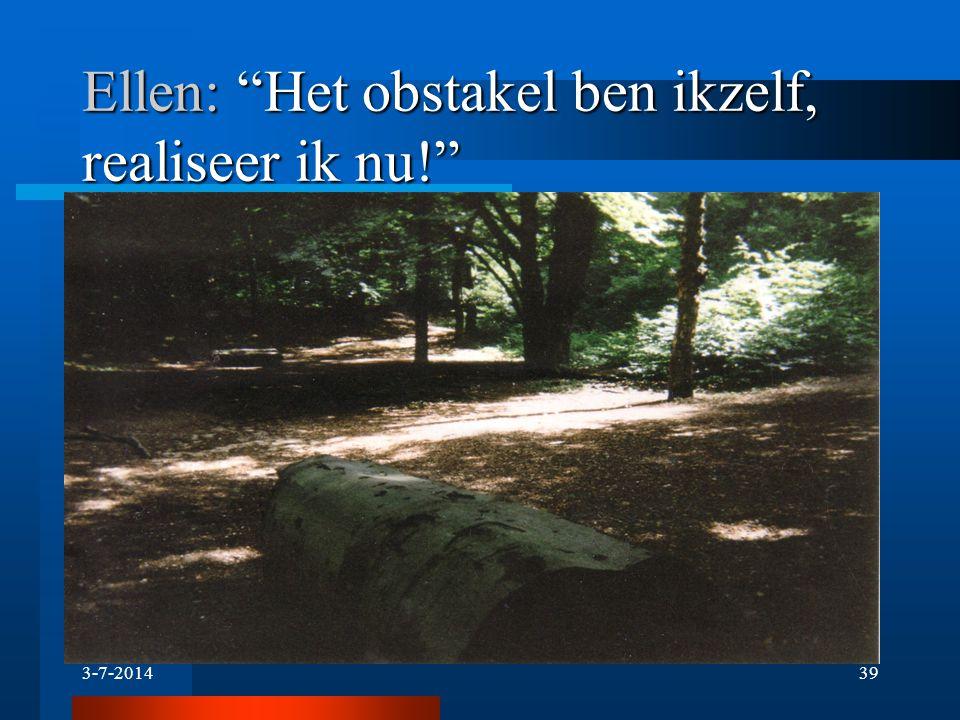 """3-7-201438 Ellen: """"De wegen werden donkerder en donkerder door de jaren, net als dit bos uit mijn jeugd, maar er is licht aan het eind. """""""