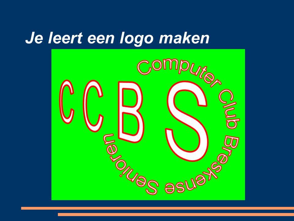 Je leert een logo maken