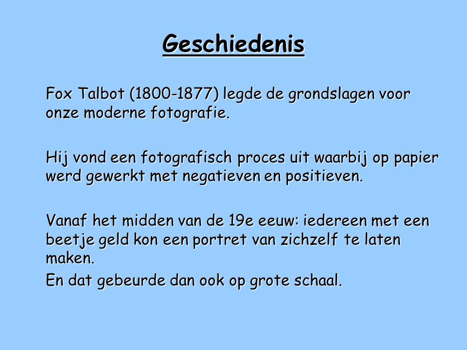 Geschiedenis Fox Talbot (1800-1877) legde de grondslagen voor onze moderne fotografie.