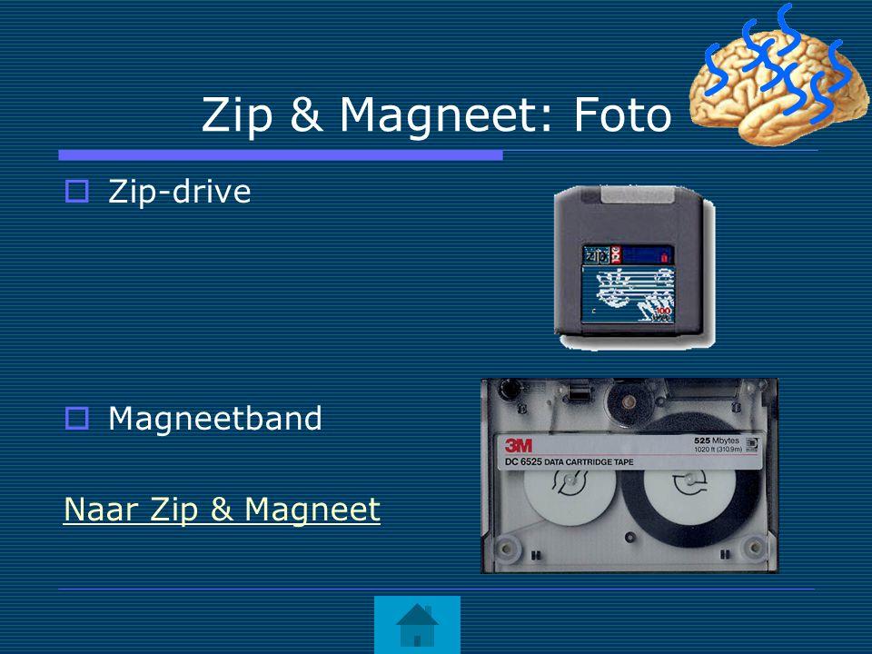 Zip & Magneet: Foto  Zip-drive  Magneetband Naar Zip & Magneet