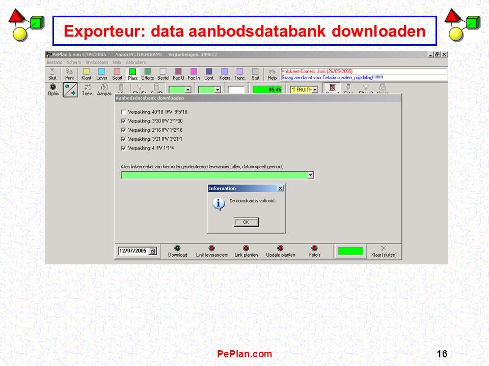 PePlan.com15 Exporteur: kweker x toevoegen in lokale PePlan