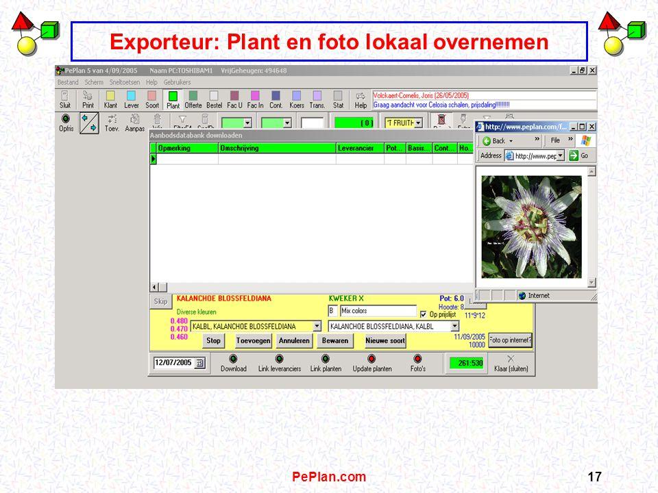 PePlan.com16 Exporteur: data aanbodsdatabank downloaden