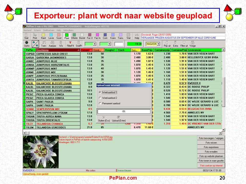 PePlan.com19 Exporteur: offerte wordt gemaild, gefaxt naar…