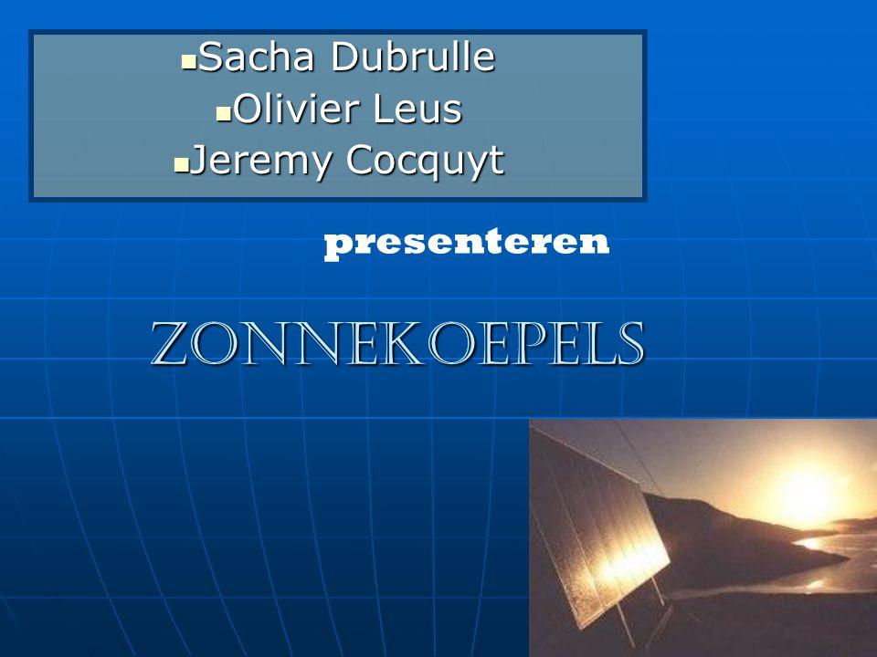 Zonnekoepels  Sacha Dubrulle  Olivier Leus  Jeremy Cocquyt presenteren
