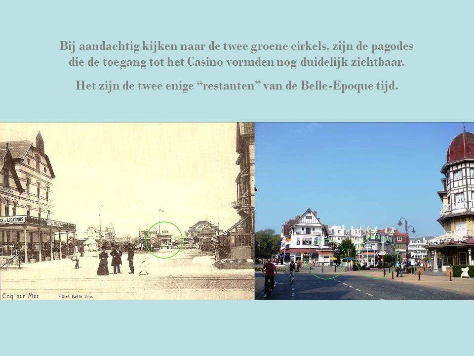 Bij aandachtig kijken naar de twee groene cirkels, zijn de pagodes die de toegang tot het Casino vormden nog duidelijk zichtbaar.