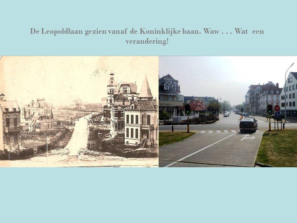 De Leopoldlaan gezien vanaf de Koninklijke baan. Waw... Wat een verandering!