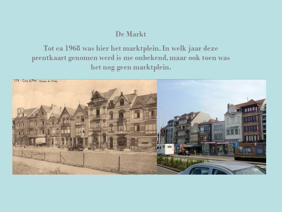 De Markt Tot ca 1968 was hier het marktplein. In welk jaar deze prentkaart genomen werd is me onbekend, maar ook toen was het nog geen marktplein.