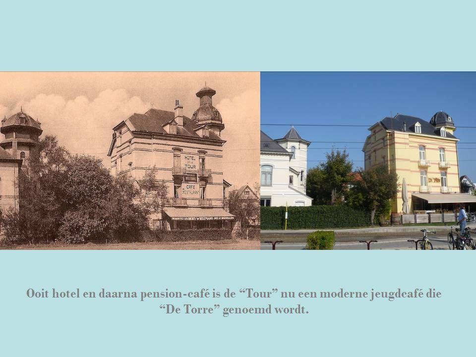 """Ooit hotel en daarna pension-café is de """"Tour"""" nu een moderne jeugdcafé die """"De Torre"""" genoemd wordt."""