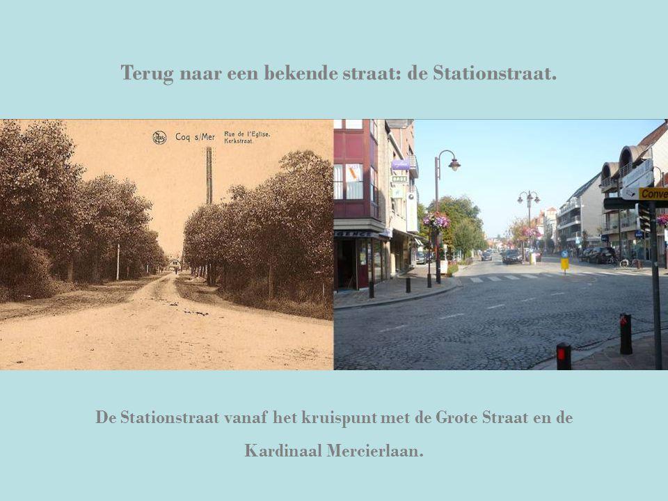 Terug naar een bekende straat: de Stationstraat. De Stationstraat vanaf het kruispunt met de Grote Straat en de Kardinaal Mercierlaan.