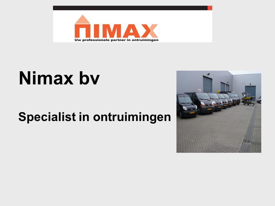 Nimax bv Specialist in ontruimingen