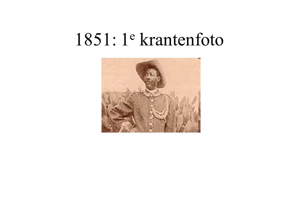 1851: 1 e krantenfoto