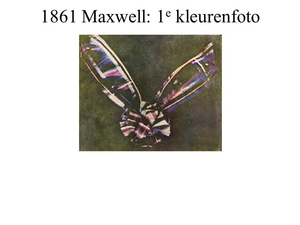 1861 Maxwell: 1 e kleurenfoto