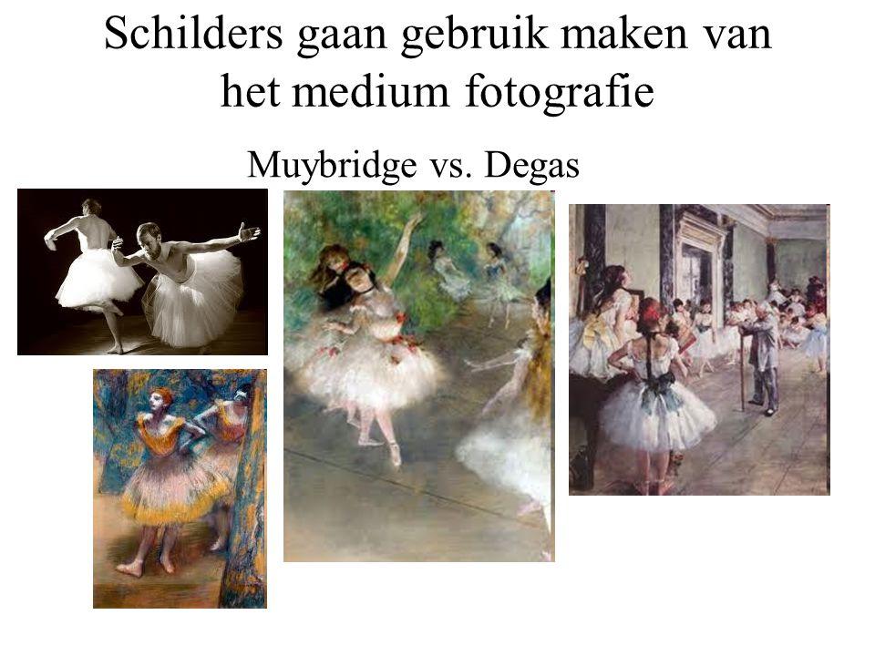 Schilders gaan gebruik maken van het medium fotografie Muybridge vs. Degas