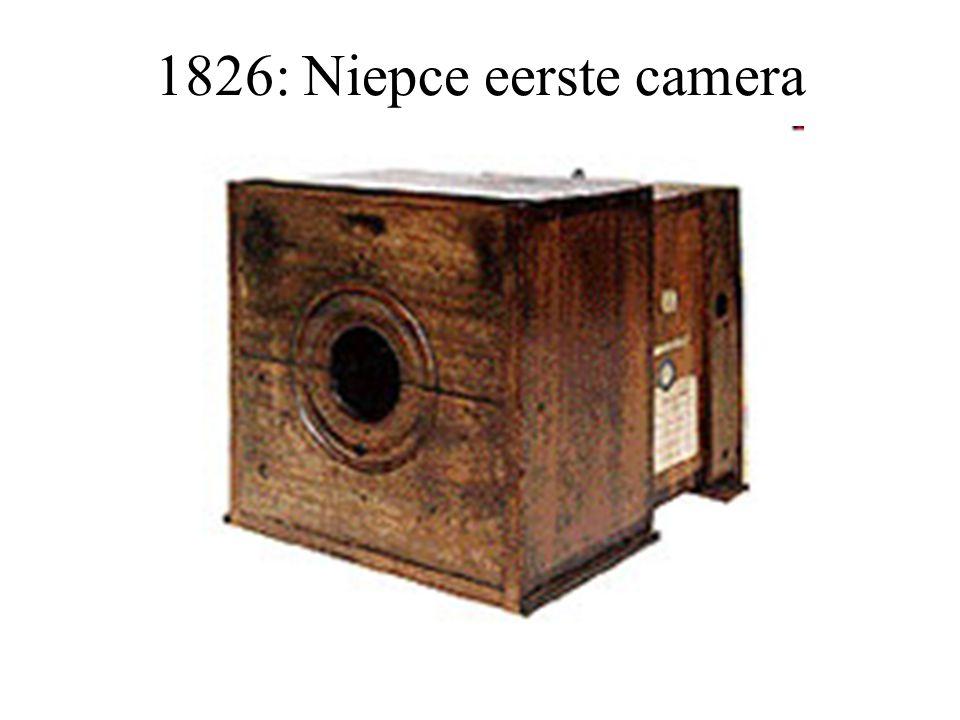 1826: Niepce eerste camera