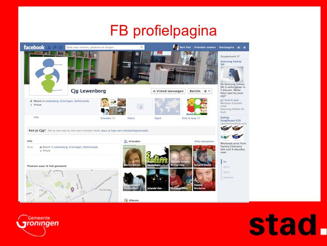FB profielpagina