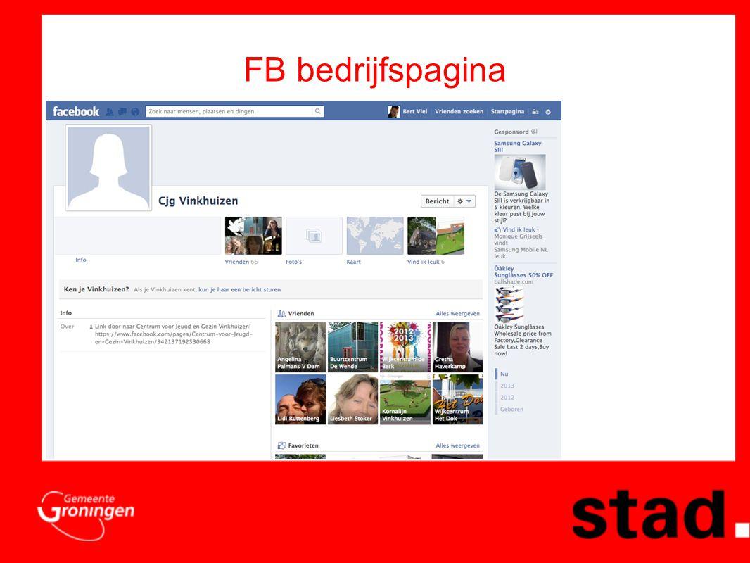 FB bedrijfspagina