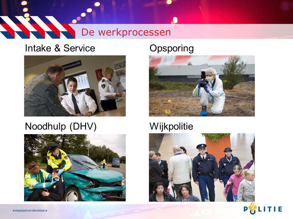 De werkprocessen Opsporing Wijkpolitie Intake & Service Noodhulp (DHV)