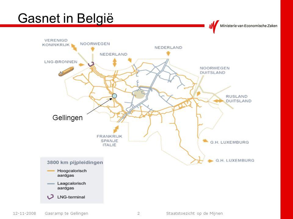 Gasramp te Gellingen Staatstoezicht op de Mijnen 12-11-200813 Zone-indeling ZONE 1: de verboden zone wordt omschreven als de zone met een hoge kans op letaliteit, die enkel in zeer uitzonderlijke omstandigheden na gepaste risico-afweging en met de vereiste beschermende kledij mag betreden worden.