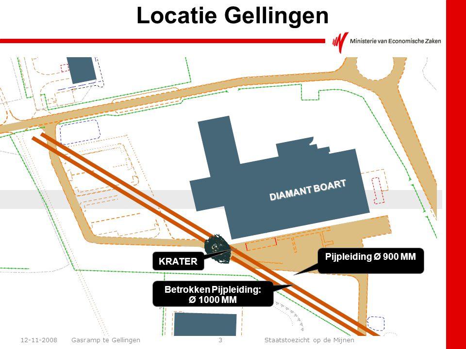 Gasramp te Gellingen Staatstoezicht op de Mijnen 12-11-200824 +/- 340 m van de krater Gesmolten wegverlichting langs de autosnelweg Waarnemingen: Schade t.g.v warmtestraling