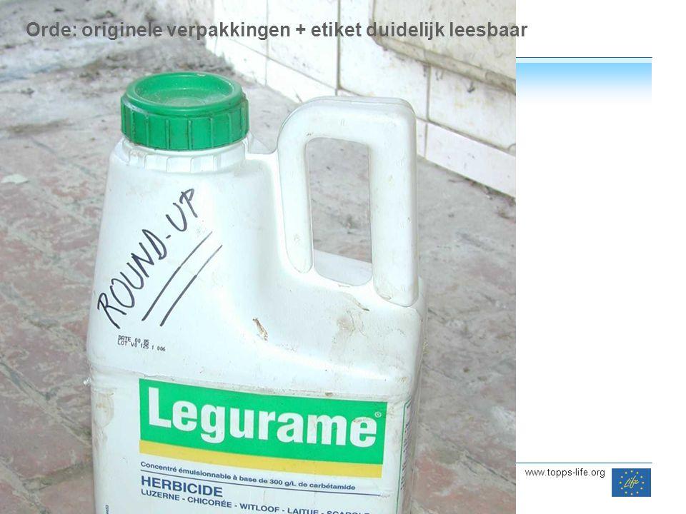 14 www.topps-life.org Orde: originele verpakkingen + etiket duidelijk leesbaar