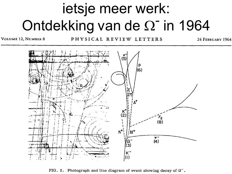 ietsje meer werk: Ontdekking van de  - in 1964