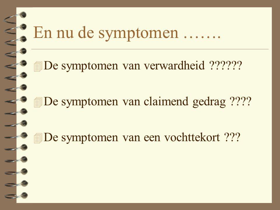 En nu de symptomen …….4 De symptomen van verwardheid ?????.
