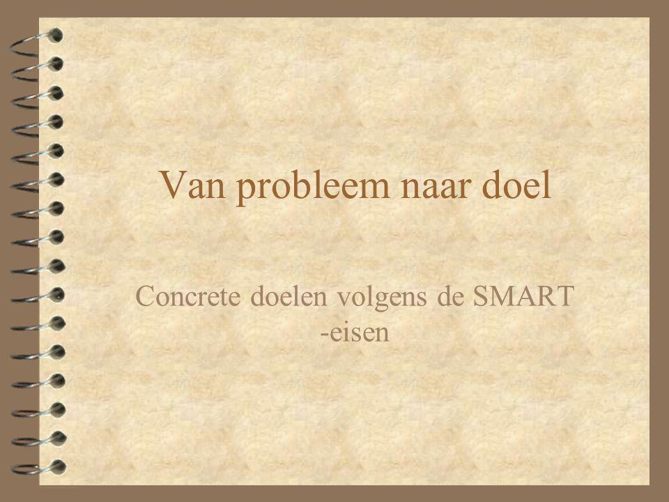 Van probleem naar doel Concrete doelen volgens de SMART -eisen