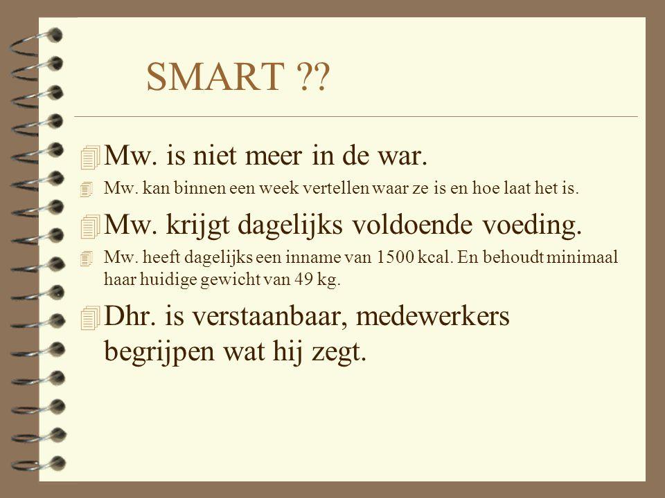SMART ?.4 Mw. is niet meer in de war. 4 Mw.