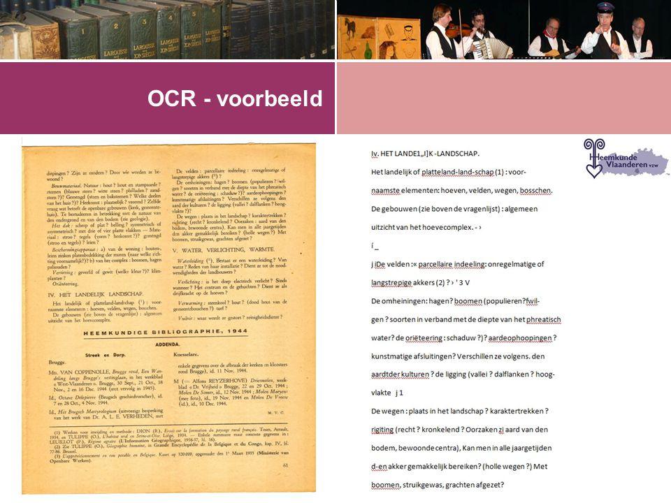 OCR - voorbeeld