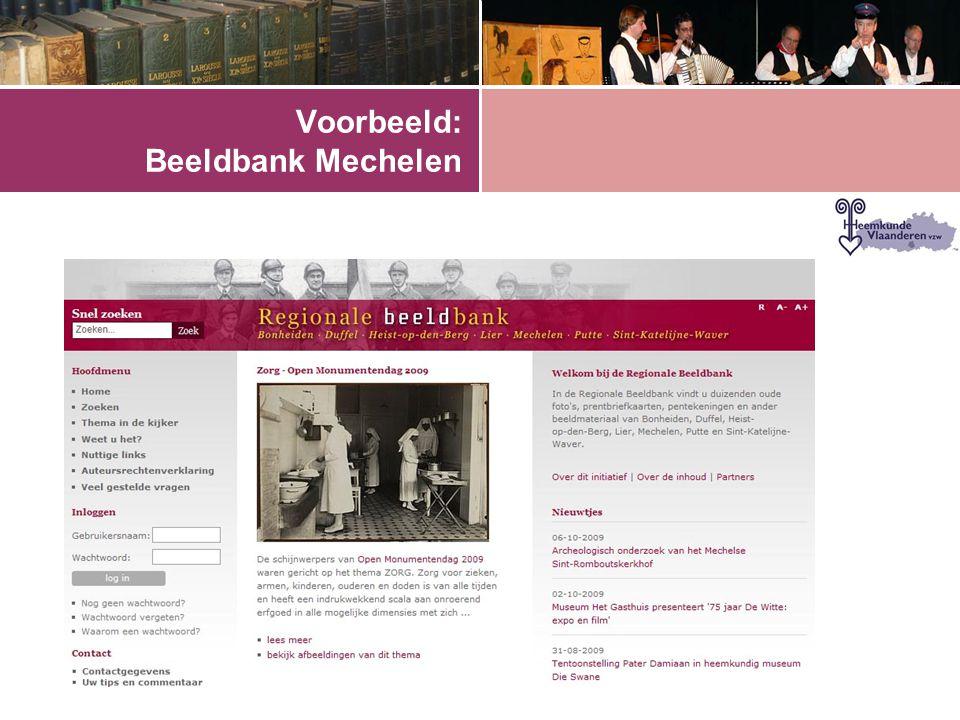 Voorbeeld: Beeldbank Mechelen