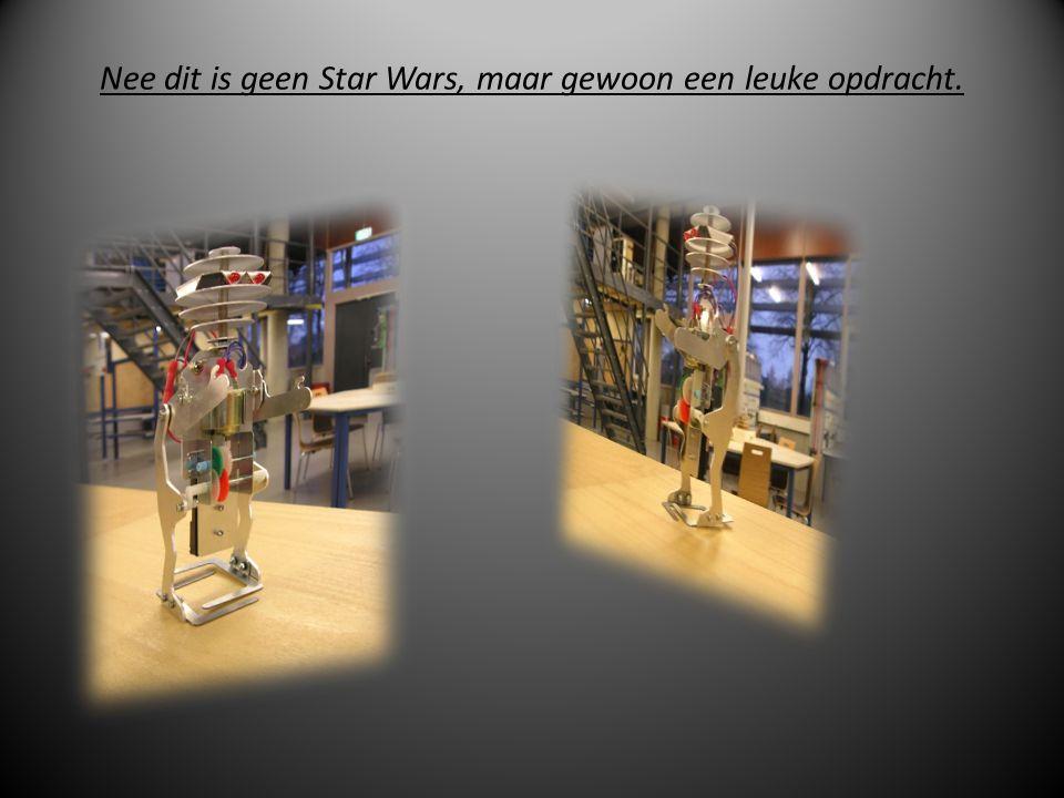 Nee dit is geen Star Wars, maar gewoon een leuke opdracht.