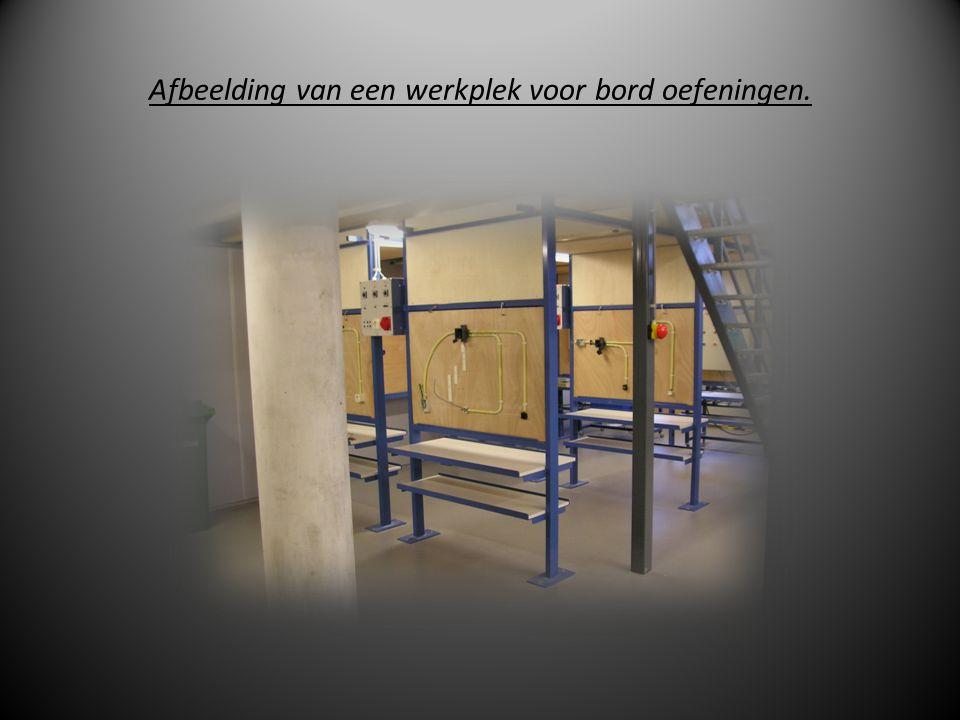 Afbeelding van een werkplek voor bord oefeningen.