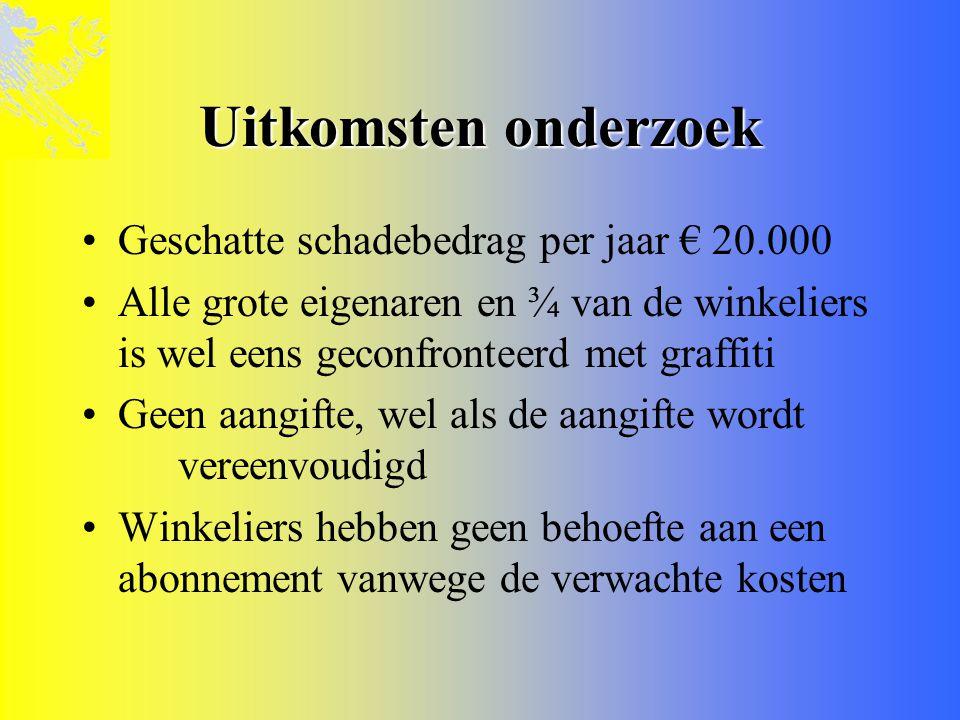 De aanpak •Het schoonmaken en schoonhouden •De repressieve aanpak •Het stimuleren van graffitikunst • Pilot-project uit GSB-geld 2001-2005 • Binnenstad van Leeuwarden • + uitbreiding Schrans