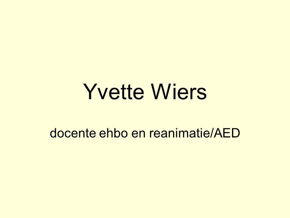 Yvette Wiers docente ehbo en reanimatie/AED
