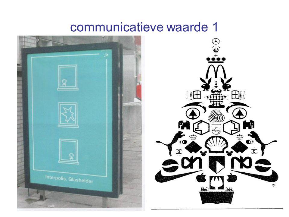 communicatieve waarde 1 •Communicatieve waarde 1
