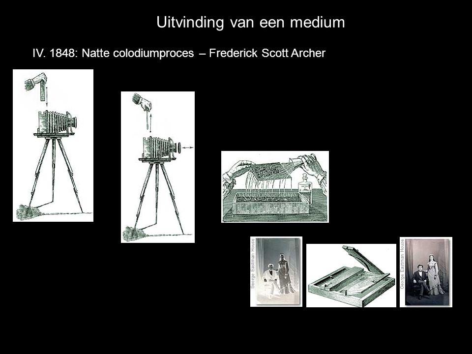 Uitvinding van een medium IV. 1848: Natte colodiumproces – Frederick Scott Archer