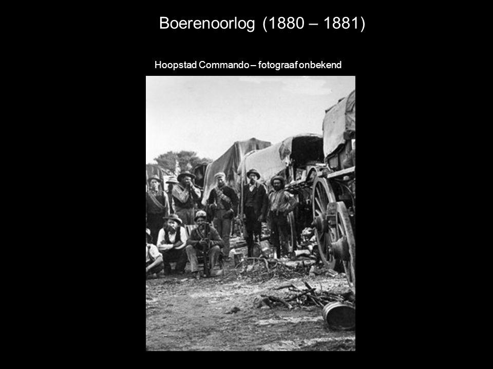 Boerenoorlog (1880 – 1881) Hoopstad Commando – fotograaf onbekend