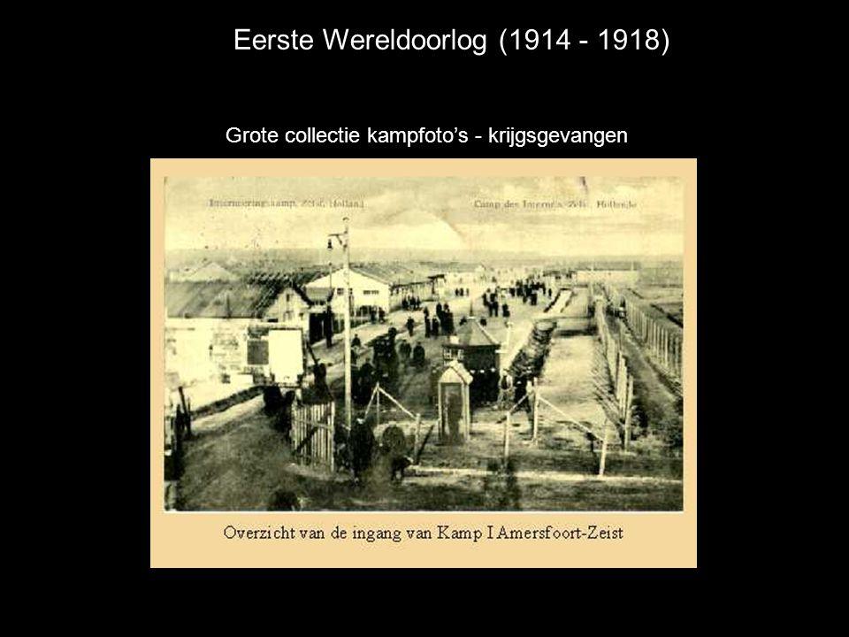 Eerste Wereldoorlog (1914 - 1918) Grote collectie kampfoto's - krijgsgevangen