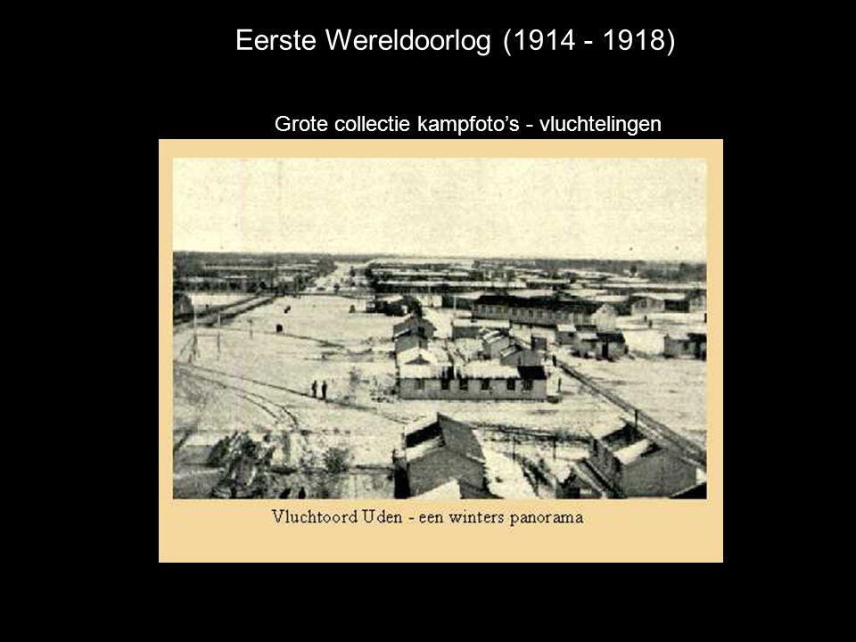 Eerste Wereldoorlog (1914 - 1918) Grote collectie kampfoto's - vluchtelingen