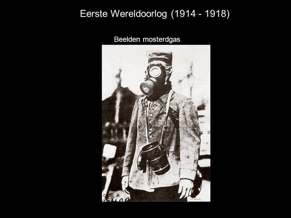 Eerste Wereldoorlog (1914 - 1918) Beelden mosterdgas