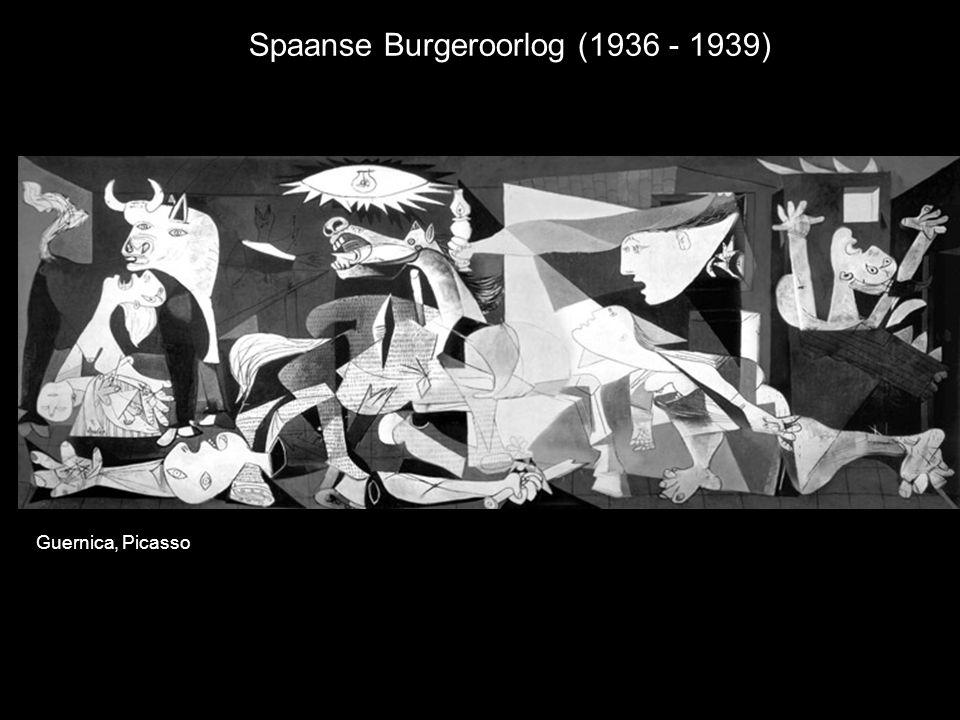 Spaanse Burgeroorlog (1936 - 1939) Guernica, Picasso