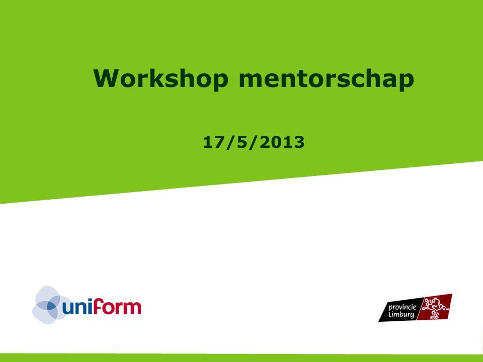 Workshop mentorschap 17/5/2013