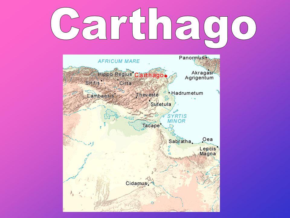 De geschiedenis van Carthago •Laag 1: - Feniciers (de stad werd gesticht door koningin Dido in 814 voor Christus) •Laag 2: - Romeinen (202 voor Christus) •Laag 3: - Arabieren (veroverden de stad in de 7e eeuw na Christus)