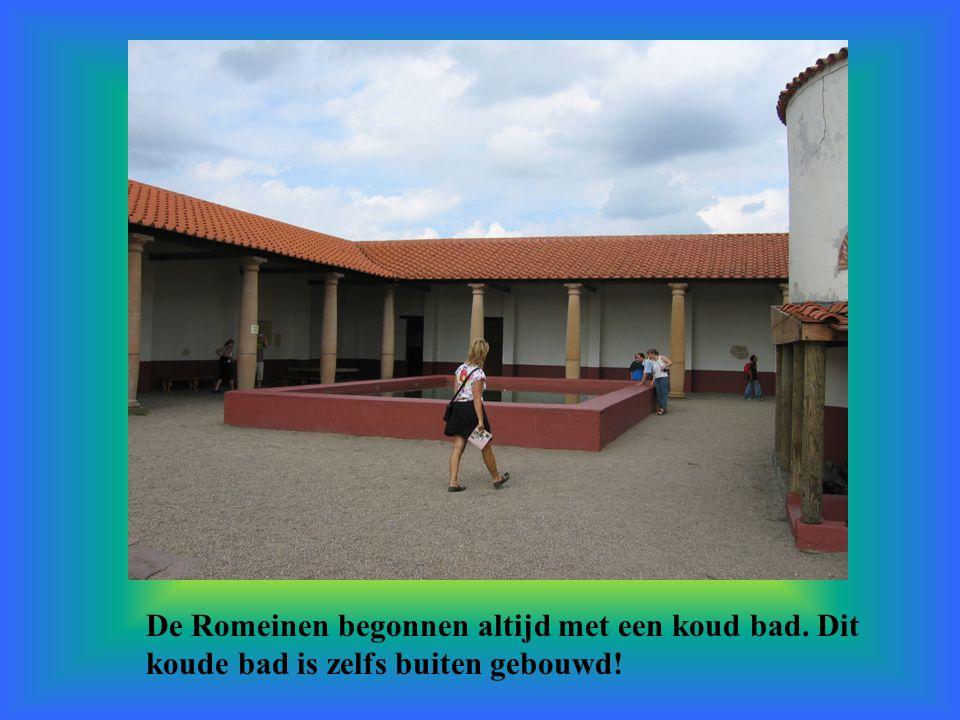 De Romeinen begonnen altijd met een koud bad. Dit koude bad is zelfs buiten gebouwd!