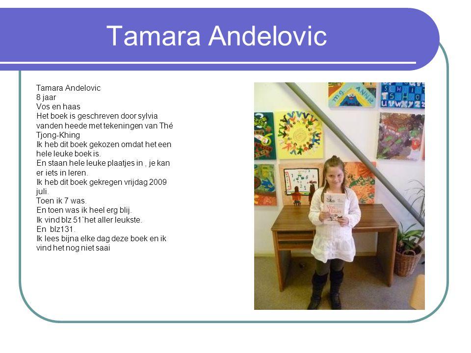 Tamara Andelovic 8 jaar Vos en haas Het boek is geschreven door sylvia vanden heede met tekeningen van Thé Tjong-Khing Ik heb dit boek gekozen omdat h