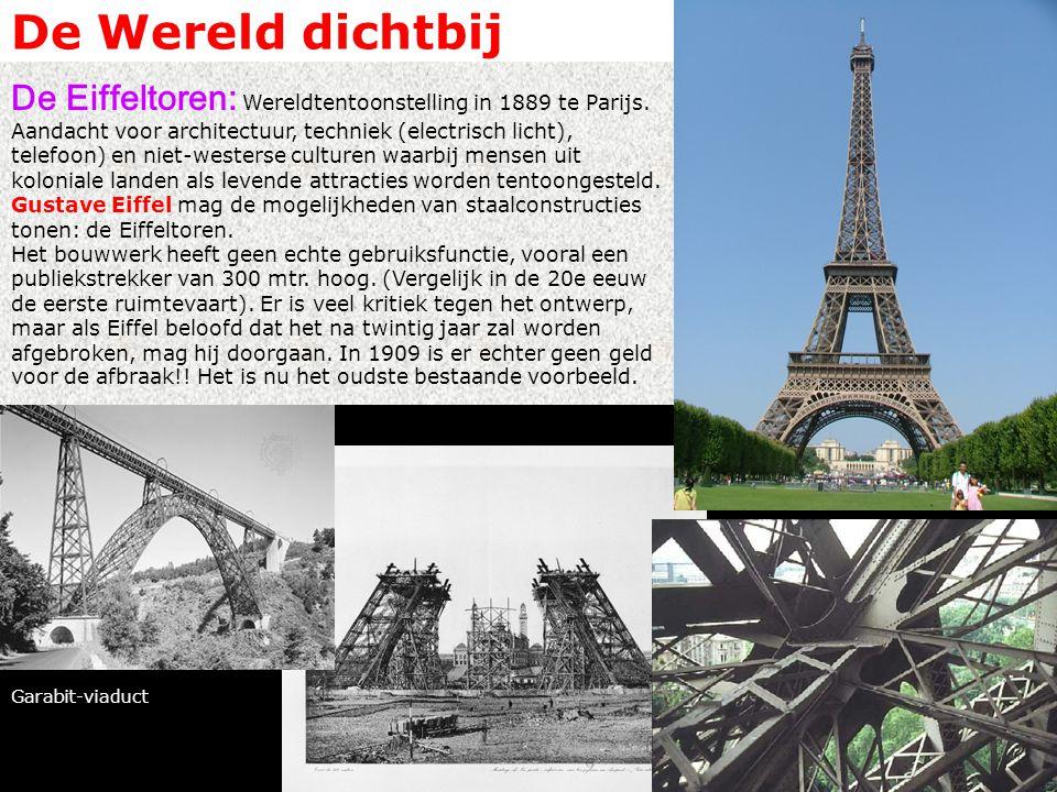 De Wereld dichtbij De Eiffeltoren: Wereldtentoonstelling in 1889 te Parijs.