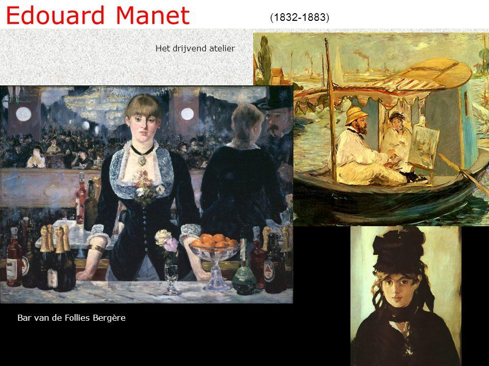 Edouard Manet (1832-1883) Het drijvend atelier Bar van de Follies Bergère