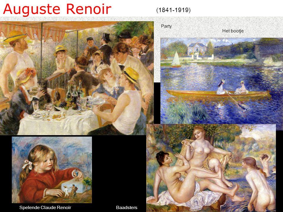 Auguste Renoir (1841-1919) Baadsters Party Spelende Claude Renoir Het bootje